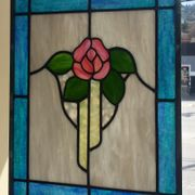pink rose lead panel